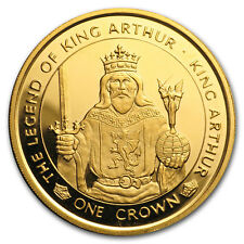 1996 Isle of Man 1 oz Gold King Arthur Proof - SKU#153010