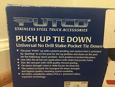 New OEM Putco 99901 Pickup Rail Tie Down Push-Up Pair Truck Bed GMC Steel Chrome