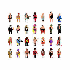 30 Squared - Wrestling Legends Print by Jim'll Paint It  Pixel Art 8 Bit WWF WWE