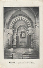 WW1 postcard Matarieh Egypt interior of French Catholic church 1916 from soldier