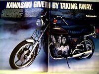 """1981 Kawasaki KZ750LTD Original Print Ad 2 page 8.5 x 11"""""""