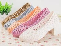Womens Plastic Hollow Out Ballet Flats Comfort Soft Slip On Loafers Casual Shoes