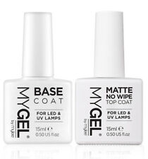 Mylee MYGEL Matte No Wipe Top & Base Coat Duo Set UV LED Manicure Kit 2x15ml