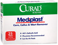 CURAD MEDIPLAST Corn Wart Callus Remover CUT TO FIT Pad (2 PADS)