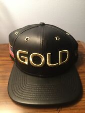 """New Era USA BASKETBALL """"GOLD"""" Buckle Back Hat. Brand New. One Size Fits All"""