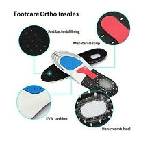 Orthotic Arch Support Insoles Sport Comfort Shock Absorb Gel Heel Size 2-7uk