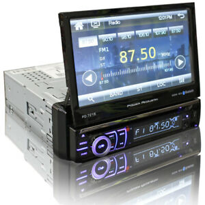 """Power Acoustik 1 DIN Receiver Head Unit with Bluetooth 7"""" LCD Display PD-721B"""