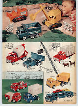 1961 PAPER AD 3 PG Structo Toy Car Carrier Dispatch Truck Timber Toter Ford