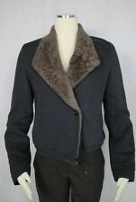 NWT Brunello Cucinelli Gray Jacket Coat With Soft Collar Size 6