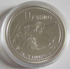 Spanien 10 Euro 2005 Europastern 60 Jahre Zweiter Weltkrieg Silber