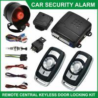 Nouveau voiture système d'alarme antidémarrage central contrôle distance+ sirène