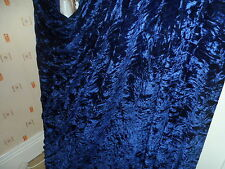 6 MTR  QUALITY NAVY BLUE ICE CRUSHED VELVET FABRIC..58 INCHES WIDE