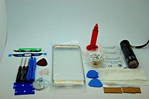 Front Glass, Screen Repair Kit, Loca Glue, UV for Samsung Galaxy S7 Edge Gold