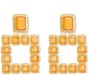 Charm Women Crystal Pearl Earrings Ear Stud Tassel Dangle Drop Statement Jewelry