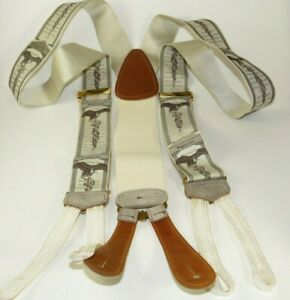 Limited Edition Hippocrates Trafalgar beige Slik Suspenders Trouser Braces