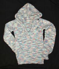 Rip Curl Girl Multi Pastel Drawstring Wool Acrylic Hoodie Sweater Pullover - S