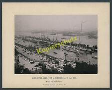 or. Großfoto Hamburg Nord-Ostsee-Kanalfeier Straßenbahn Großsegler Hafentor 1895