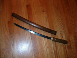 [SF010] Japanese Samurai Sword:  Yasumitsu Wakizashi in Shirasaya