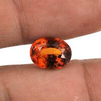 Natural Hessonite Garnet Ceylon 11mm/8.5mm Oval Top Quality Gemstone 4.30 Cts