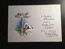 GEORGE ROBEY - ACTOR & MUSIC HALL STAR - EXCELLENT SIGNED CHRISTMAS CARD