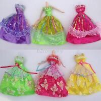 Wholesales 5 Pcs/set Princess Party Dress Wedding Clothes/Gown For Barbie Doll