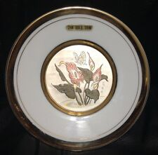THE ART OF CHOKIN - CALA LILIES & BUTTERFLY COLLECTOR'S PLATE 24K GOLD TRIM 6""