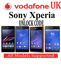 Vodafone Uk Unlock Code For All Sony Xperia Neo mt15i ray st18i X8 e15i x10
