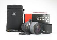 Nikon Sigma 150 mm 2.8 DG IF APO EX HSM Macro + Sehr Gut (225721)