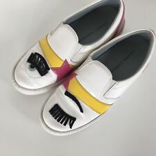 Chiara Ferragni Womens EU 36 US 5 Flirting Eye White Sneakers Loafers Italy