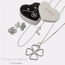Authentic Pandora Sterling Silver CZ Petals of Love Jewelry Set USB794900