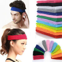 Unisex Men Women Sports Sweat Sweatband Headband Yoga Gym Stretch Head Band