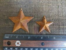 "50 pc Lot Rusty Stars 25- 2.25"" & 25- 1.5"" Primtive Country Metal Barn Stars Tin"