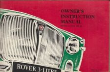 ROVER P5 3 LITRE SALOON / COUPE MKIII ORIGINAL 1965 OWNERS INSTRUCTION HANDBOOK