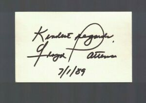 Floyd Patterson Boxing Signed Index Card W/Our COA