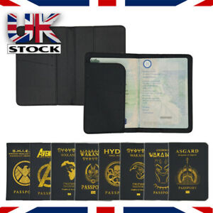 Marvel Asgard, Wakanda, Hydra Travel Passport Holder Wallet case cover Marvel