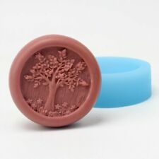 Soap Silicone Mould Round Tree Pattern Craft Resin Clay Chocolate Candy Mould