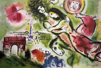 Marc CHAGALL Romeo and Juliet Paris Facsimile Signed Litho Art Print