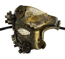 Steampunk Phantom Half Face Gold Masquerade Mask Prom Party Venetian Mask