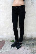 """MELTIN 'POT jeans """"Mika"""" Femme Noir Denim Slim Coupe Extensible W27 L29 UK10 Super"""