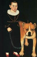 """oil painting handpainted on canvas """"Pierrepont Lacey (1832-1888) and his Dog"""""""