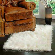 Shag Rug - White Faux Fur - Sheepskin - Area Rug - 4' x 5' Fur Accents USA
