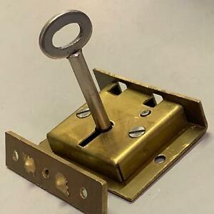 "Genuine Jacksons Solid Brass Box Lock | 51mm (2"") | 2 Lever | 1 Key | JB22"