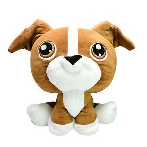 Littlest Pet Shop HUGE Puppy Dog Boxer Plush Soft Toy Washed Clean 40cm 2005