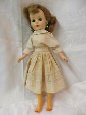 1950's Nancy Ann Doll pink cotton Dress Panties Pearl Earrings
