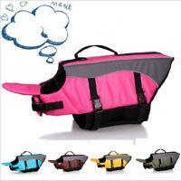 Dog Life Jacket Swimming Float Vest Reflective Adjustable Buoyancy Pet Coat