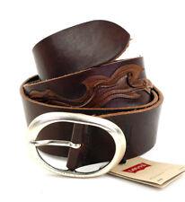 Levi ´ S Cintura in pelle Unisex 220347 Marrone Taglia 85 Cm (Larghezza 4 Cm)