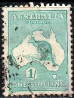 1916 Australia Sg 40 1s blue-green (Die II) Good Used