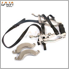 Equine Dental Horse Mouth Gag Speculum Forged Ratchets With Leather Straps