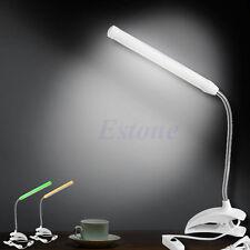 USB Power 13LED lampe lumière nuit clip sur table chevet lecture bureau flexible