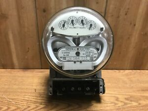 General Electric GE Single Phase Watthour Meter I-30-A AA1 5a 120v 2 Wire Meter